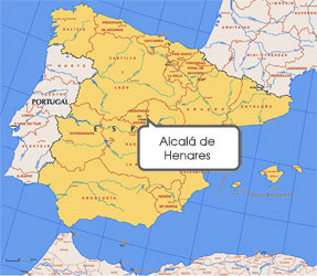 Mapa de Alcalá de Henares