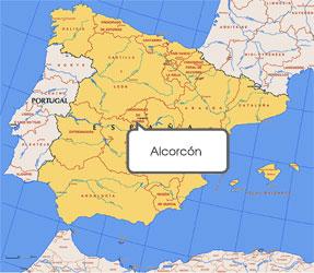 Mapa de Alcorcón