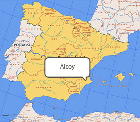 Mapa de Alcoy