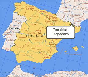 Mapa de Escaldes-Engordany