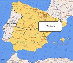 Mapa de Ordino