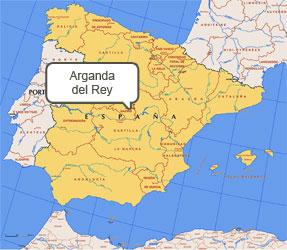 Mapa de Arganda del Rey