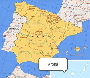Mapa de Arona