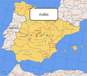 Mapa de Avilés