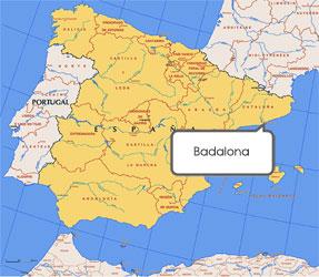 Mapa de Badalona
