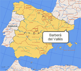 Mapa de Barberá del Vallés