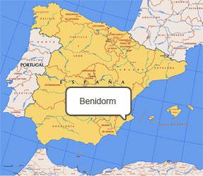Mapa de Benidorm
