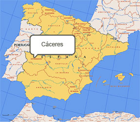 Mapa de Cáceres