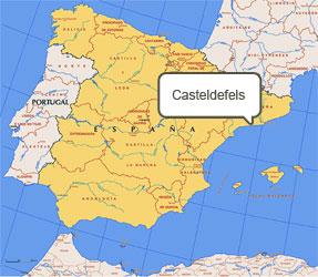 Mapa de Casteldefels