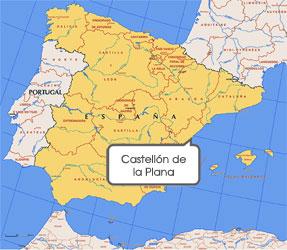 Mapa de Castellón de la Plana