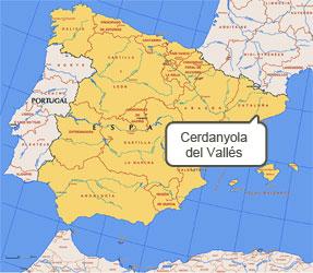 Mapa de Cerdanyola del Vallés