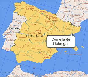 Mapa de Cornellá de Llobregat