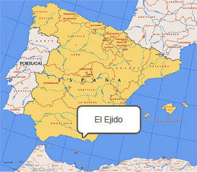 Mapa de El Ejido