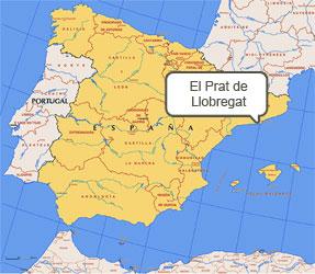 Mapa de El Prat de Llobregat