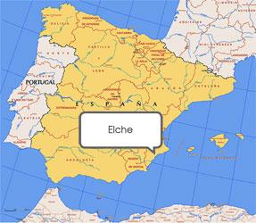 Mapa de Elche