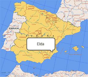 Mapa de Elda