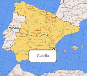 Mapa de Gandía
