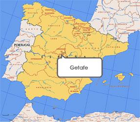 Mapa de Getafe