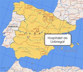 Mapa de Hospitalet de Llobregat