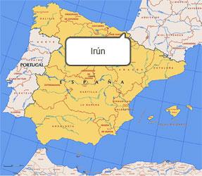 Mapa de Irún