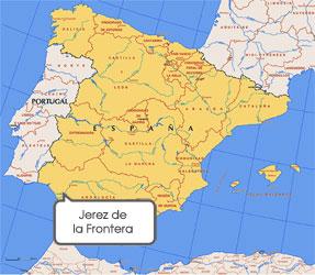 Mapa de Jerez de la Frontera