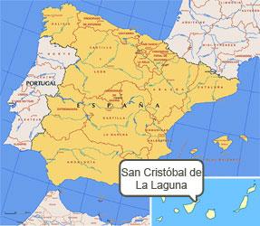 Mapa de La Laguna