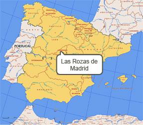 Mapa de Las Rozas de Madrid