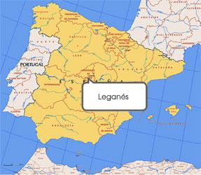 Mapa de Leganés