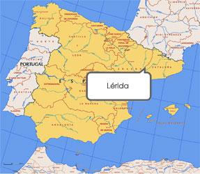 Mapa de Lérida