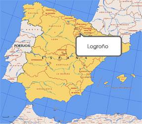 Mapa de Logroño