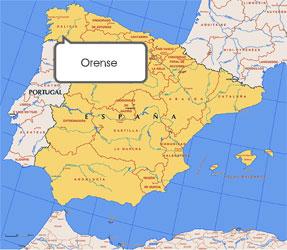 Mapa de Orense