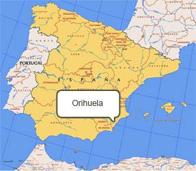 Mapa de Orihuela