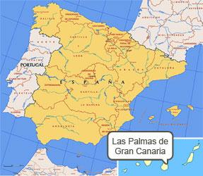 Mapa de Palmas Gran Canaria