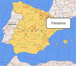 Mapa de Pamplona