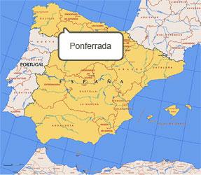 Mapa de Ponferrada