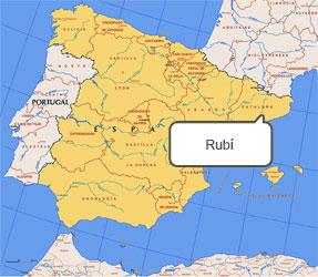 Mapa de Rubí