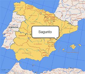 Mapa de Sagunto