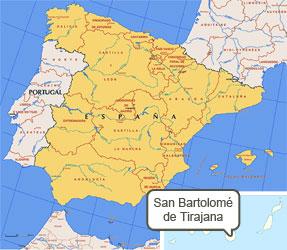 Mapa de San Bartolomé Tirajana