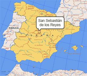 Mapa de San Sebastián Reyes