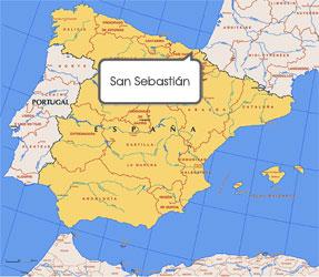 "Resultado de imagen de san sebastian mapa españa"""
