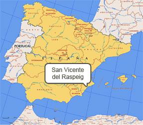 Mapa de San Vicente Raspeig