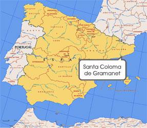 Mapa de Sta. Coloma Gramanet