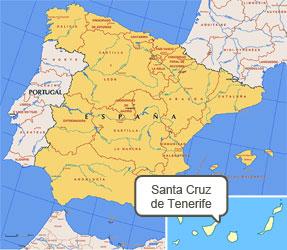 Mapa de Santa Cruz Tenerife