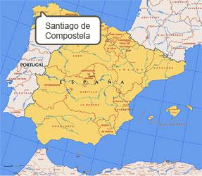 Mapa de Santiago Compostela
