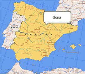 Mapa de Soria