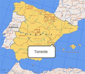 Mapa de Torrente